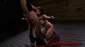 Cute redhead gets her mouth fucked in th - XXX Dessert - Picture 9