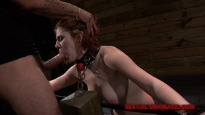Cute redhead gets her mouth fucked in th - XXX Dessert - Picture 11