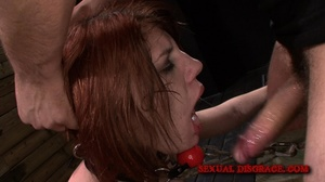 Cute redhead gets her mouth fucked in th - XXX Dessert - Picture 15