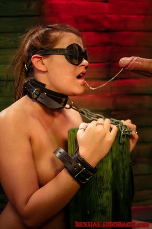 Strong man drills the throat of blindfol - XXX Dessert - Picture 13
