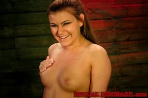 Teen chick looks happy before humiliatio - XXX Dessert - Picture 3