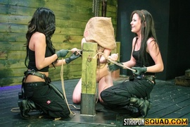 black, lesbian, redhead, strapon