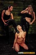 blonde, lesbian, slave, strapon