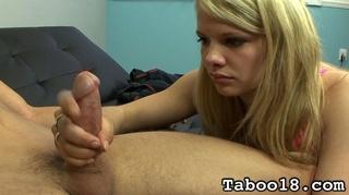 blonde teens tender hands