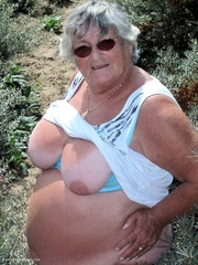 lusty old lady pose