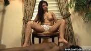 busty babe dominates black