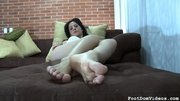 awesome footjob presented dominant