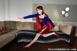 foot, footjob, pantyhose, redhead