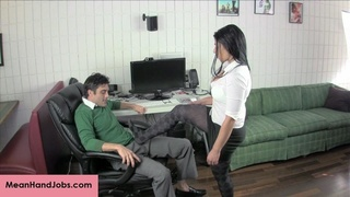 boss, handjob, home, secretary