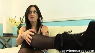 booty, juicy, pantyhose