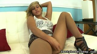 sneak spots hot pantyhose