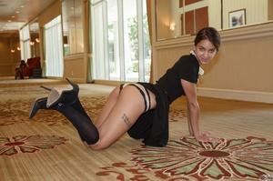 Skinny hottie walks around the hotel wea - XXX Dessert - Picture 6