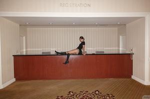 Skinny hottie walks around the hotel wea - XXX Dessert - Picture 12