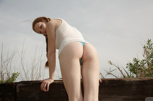Sweet redhead in pigtails goes up a hill - XXX Dessert - Picture 11