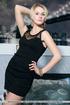 impeccable damsel black dress