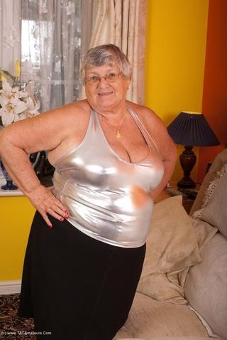 hot granny shiny silver