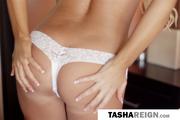 topless blonde damsel white