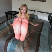 lovely blonde takes off