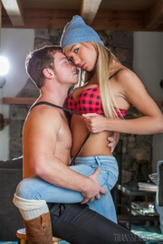 beautiful blonde transgender with