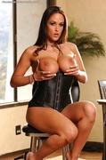 black, corset, individual model, juggs