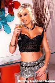 party blonde short skirt