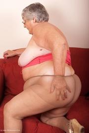 horny granny rubs her