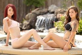 cute, redhead, tits