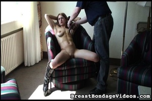Amateur girl feels great with bondaged t - XXX Dessert - Picture 1