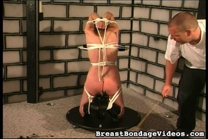 Ropes and chain make girl stay on her kn - XXX Dessert - Picture 13
