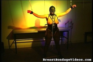Young lady in black leather mask and sex - XXX Dessert - Picture 6