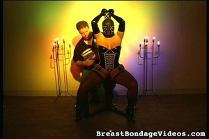Young lady in black leather mask and sex - XXX Dessert - Picture 14