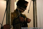blindfolded amateur girl bounded