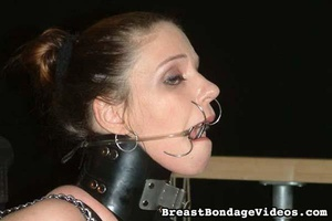 Big-breasted brunette girl got chained i - XXX Dessert - Picture 9