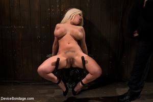 Blonde bimbo with big boobs spread in bo - XXX Dessert - Picture 1