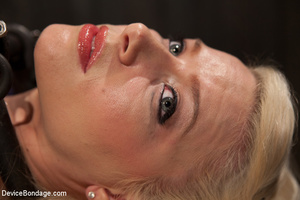 Sweet blonde covered in clothes pins for - XXX Dessert - Picture 2