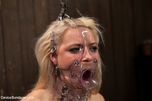 Sweet blonde covered in clothes pins for - XXX Dessert - Picture 8