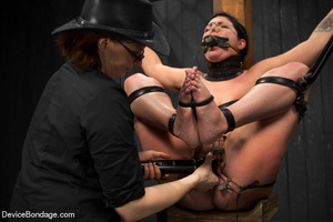 Sexy brunette humiliated in bondage and  - XXX Dessert - Picture 8