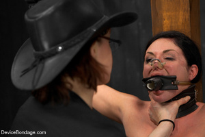 Sexy brunette humiliated in bondage and  - XXX Dessert - Picture 10
