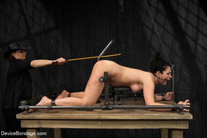 Sexy brunette humiliated in bondage and  - XXX Dessert - Picture 14