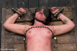 Hot tiny tits brunette vibrated in metal - XXX Dessert - Picture 6