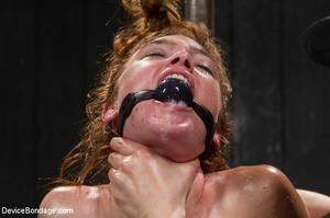 Freckled slave hooked and toyed on a dir - XXX Dessert - Picture 12