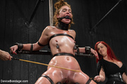 redhead slave gets oiled