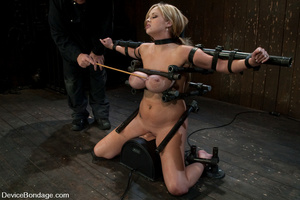 Curvy blonde slave gets her tits squeeze - XXX Dessert - Picture 3