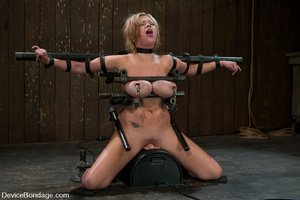 Curvy blonde slave gets her tits squeeze - XXX Dessert - Picture 8