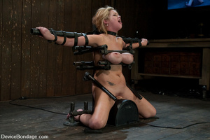 Curvy blonde slave gets her tits squeeze - XXX Dessert - Picture 9