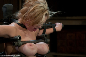 Curvy blonde slave gets her tits squeeze - XXX Dessert - Picture 11