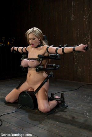 Curvy blonde slave gets her tits squeeze - XXX Dessert - Picture 13
