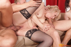 Blonde and brunette MILFs with smoking h - XXX Dessert - Picture 7