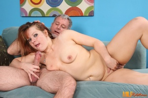 Redhead cougar slowly peels off her blac - XXX Dessert - Picture 5