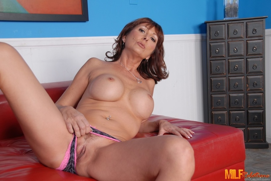 Perfect milf strips and sucks cock
